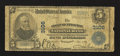 National Bank Notes:West Virginia, Huntington, WV - $5 1902 Plain Back Fr. 598 The First Huntington NBCh. # 3106. ...