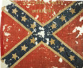 Military & Patriotic:Civil War, The Civil War Confederate Battle Flag of the 37th Mississippi Infantry....