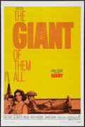 """Movie Posters:Drama, Giant (Warner Brothers, R-1970). One Sheet (27"""" X 41""""). Drama.. ..."""