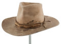 "Movie/TV Memorabilia:Costumes, A Cowboy Hat from ""Big Jake,"" ""The Cowboys,"" and ""The Train Robbers.""..."