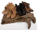 Movie/TV Memorabilia:Memorabilia, Five Pairs of Outdoors Boots, 1960s-1970s.... (Total: 5 )