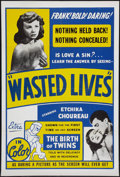 """Movie Posters:Exploitation, Wasted Lives (International Films Distributors, 1957). One Sheet(28"""" X 42""""). Also known as Children of Love. Exploitati..."""