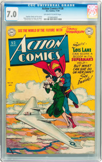 Action Comics #138 (DC, 1949) CGC FN/VF 7.0 Off-white to white pages