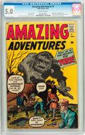 Silver Age (1956-1969):Horror, Amazing Adventures #1 (Marvel, 1961) CGC VG/FN 5.0 Off-whitepages....