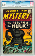 Silver Age (1956-1969):Horror, Journey Into Mystery #66 (Marvel, 1961) CGC VG/FN 5.0 Off-whitepages....
