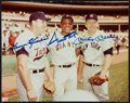 Baseball Collectibles:Photos, Harmon Killebrew, Willie Mays and Mickey Mantle Multi Signed Photograph....