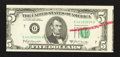 Error Notes:Skewed Reverse Printing, Fr. 1970-G $5 1969A Federal Reserve Note. Crisp Uncirculated.. ...