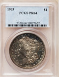 Proof Morgan Dollars: , 1903 $1 PR64 PCGS. PCGS Population (66/58). NGC Census: (68/101).Mintage: 755. Numismedia Wsl. Price for problem free NGC/...
