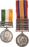 Military & Patriotic:WWI, Two British South African Medals, 1899-1902.... (Total: 2 ItemsItems)