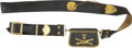 Military & Patriotic:Foreign Wars, Early 19th Century French Artillery Officer's Cartridge Box, Sling and Baldric. ...