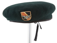 "A beret from ""The Green Berets."""