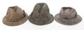 Movie/TV Memorabilia:Costumes, Three Wool Walking Hats, 1950s-1960s.... (Total: 3 )