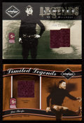 "Football Cards:Singles (1970-Now), 2003 & '04 Leaf Limited ""Limited Legends"" Jim Thorpe JerseySwatch Card Pair (2)...."
