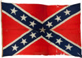 Military & Patriotic:Civil War, Confederate Naval Battle Flag of Capt. William Harwar Parker with Fonda S. Thomsen Analysis Report....