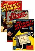 Golden Age (1938-1955):Crime, Mr. District Attorney Group (DC, 1948-57) Condition: Average FN.... (Total: 7 Comic Books)