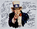 Military & Patriotic:WWII, Medal of Honor: Signatures of 40 Recipients of the Congressional Medal of Honor....