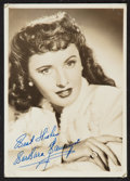 """Movie Posters:Miscellaneous, Barbara Stanwyck (1940s). Autographed Photo (4.75"""" X 7""""). Miscellaneous.. ..."""