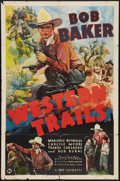"Movie Posters:Western, Western Trails (Universal, 1938). One Sheet (27"" X 41""). Western.. ..."