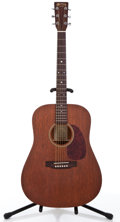 Musical Instruments:Acoustic Guitars, 2001 Martin D-15+ Mahogany Acoustic Guitar #827224....
