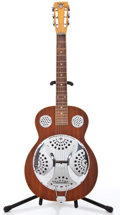 Musical Instruments:Resonator Guitars, Dobro D-40 Walnut Stain Resonator Lap Guitar #DR0006....