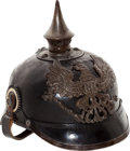 Military & Patriotic:WWI, Model 1915 Enlisted Spiked Helmet and Cover.... (Total: 2 Items)