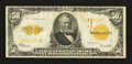 Large Size:Gold Certificates, Fr. 1200 $50 1922 Gold Certificate Very Fine.. ...