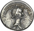 Ancients:Roman Republic, Ancients: Cleopatra VII of Egypt and Marc Antony, rulers of the East (37-31 BC). AR denarius (3.95 gm). ...