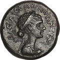Ancients:Roman Provincial , Ancients: Cleopatra VII of Egypt (51-30 BC). AE hemiobol (5.02 gm). . ...
