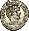Ancients:Roman Republic, Ancients: Marc Antony and Octavian as Triumvirs (43-36 BC). AR denarius (3.89 gm). . ...