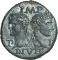 Ancients:Roman Imperial, Ancients: Augustus (27 BC-AD 14) with Agrippa (died 12 BC). AEdupondius (12.36 gm). . ...