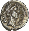 Ancients:Roman Republic, Ancients: Julius Caesar as Dictator (49-44 BC). AR denarius (3.77 gm). ...