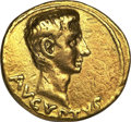 Ancients:Roman Imperial, Ancients: Augustus (27 BC-AD 14). AV aureus (8.00 gm). ...