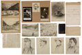 Military & Patriotic:Civil War, Henry A. McArdle Civil War Grouping Including His Journal, Hand-Drawn Battle of the Wilderness Map and Ten Original Drawings. ...