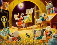Carl Barks Spoiling the Concert Oil Painting Original Art (1973)