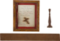 Military & Patriotic:Revolutionary War, Relics: Three Wood Relics from the British Tea Brig PeggyStewart Burned in Annapolis Harbor, October 19, 1774 and...(Total: 3 Items)