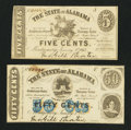 Obsoletes By State:Alabama, Montgomery, AL- State of Alabama 5¢; 50¢ Jan. 1, 1863. ... (Total: 2 notes)