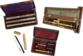 Military & Patriotic:Civil War, Interesting Group of Civil War Period and Earlier Cased Medical Instruments....