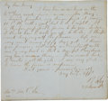 Military & Patriotic:Civil War, Touching Gen. Robert E. Lee Autograph Letter Signed to His Wife Mary Dated June 25, 1862. ...