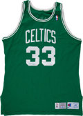 Basketball Collectibles:Uniforms, 1993-94 Larry Bird Signed Jersey....