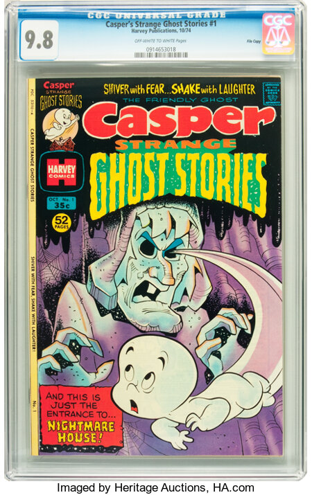 Casper Strange Ghost Stories #1 File Copy (Harvey, 1974) CGC NM/MT 9.8 Off-white to white pages....