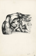 Mainstream Illustration, GARTH WILLIAMS (American, 1912-1996). Harry Cat's Pet Puppy,Harry Wrapped Himself in the Piece of Red Flannel Shirt,page...