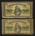 Canadian Currency: , DC-1c 25¢ 1870 Two Examples. ... (Total: 2 notes)