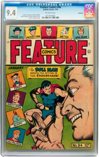 Feature Comics #94 - ROCKFORD (Quality, 1946) CGC NM 9.4 Off-white pages