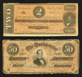 Confederate Notes:Group Lots, Two Confederate Notes.. ... (Total: 2 notes)
