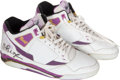 "Basketball Collectibles:Uniforms, 1990 Earvin ""Magic"" Johnson Game Worn Sneakers...."