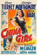 "Movie Posters:War, China Girl (20th Century Fox, 1942). One Sheet (27"" X 41"").. ..."