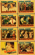 "Movie Posters:Crime, Bordertown (Warner Brothers, R-1938). Lobby Card Set of 8 (11"" X14"").. ... (Total: 8 Items)"