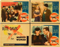 "Movie Posters:Crime, Marked Woman (Warner Brothers, 1937). Title Lobby Card and LobbyCards (3) (11"" X 14"").. ... (Total: 4 Items)"