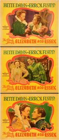 "Movie Posters:Drama, The Private Lives of Elizabeth and Essex (Warner Brothers, 1939). Lobby Cards (3) (11"" X 14"").. ... (Total: 3 Items)"