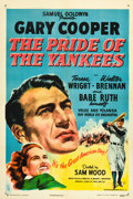 "Movie Posters:Sports, The Pride of the Yankees (RKO, R-1949). One Sheet (27"" X 41"").. ..."
